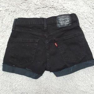 Levi's Shorts - Black Levi's Cutoffs